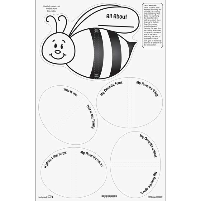 Ready-To-Decorate® About Me 3-D Bees