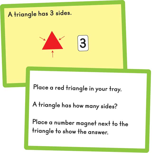 Flat And Solid Shapes Magnets And Task Cards Kit