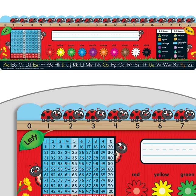 Ladybugs Self-Adhesive Deluxe Plastic Desktop Helpers™