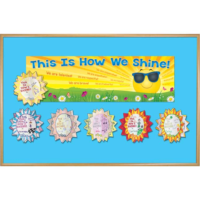Ready-To-Decorate® 3-D This Is How We Shine Bulletin Board Kit