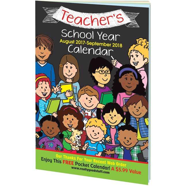 Teachers School Year Calendar - August 2017 - September 2018