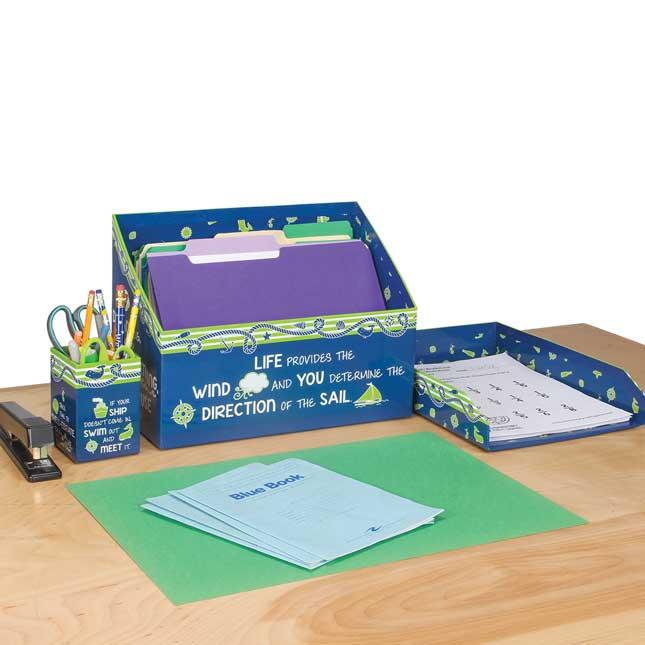 Nautical Teacher's Desktop Set