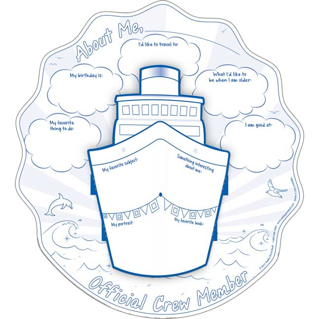 Ready-To-Decorate® Nautical 3-D Ships Bulletin Board Set