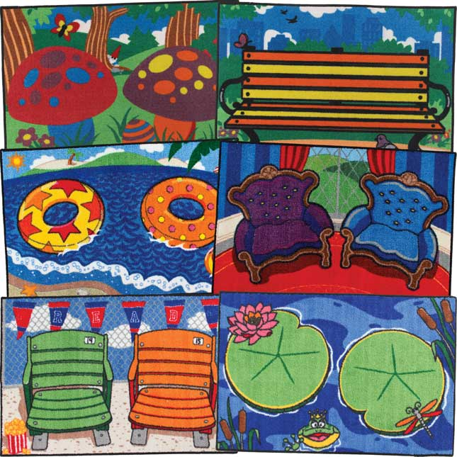Really Good Buddy Rugs™ - Castle, Beach, Pond, Stadium, Forest, And City