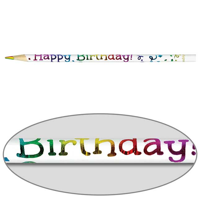 Happy Birthday Multi-Colored Pencils