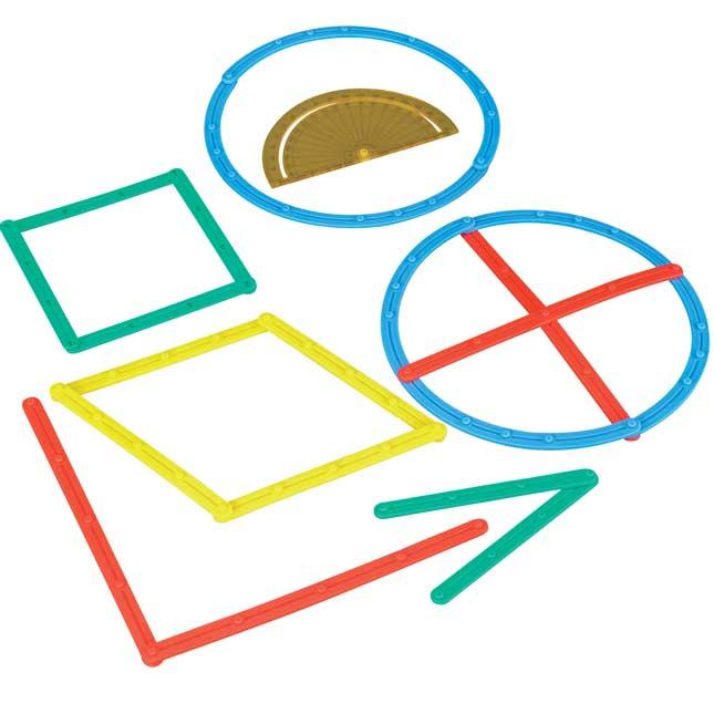 Geometric Plane Figures And Task Cards Kit