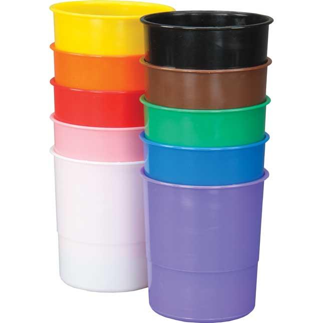 Ten-Color Plastic Cups