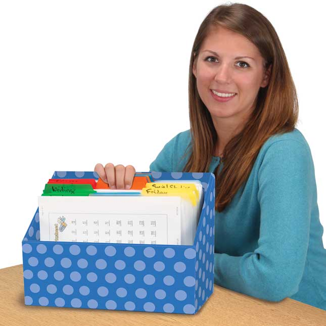 Teacher File Organizers - 6 Colors
