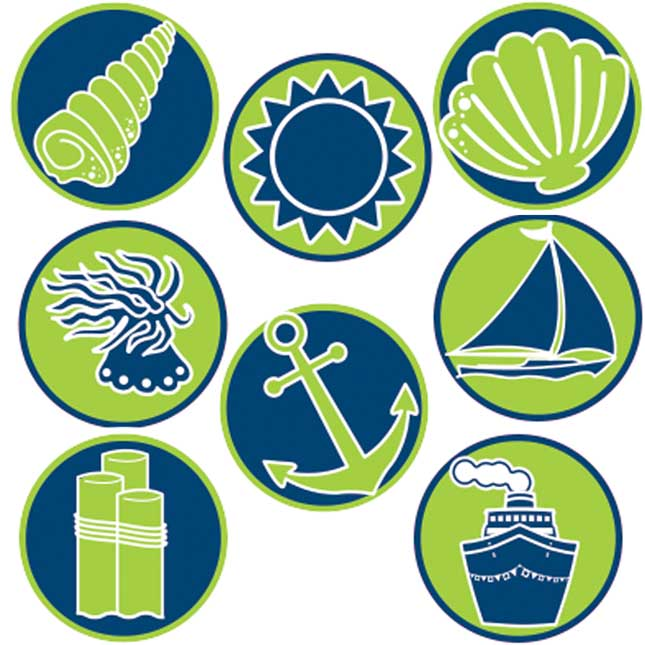 Nautical Mini Stickers Artwork Amount Grade Finish Size