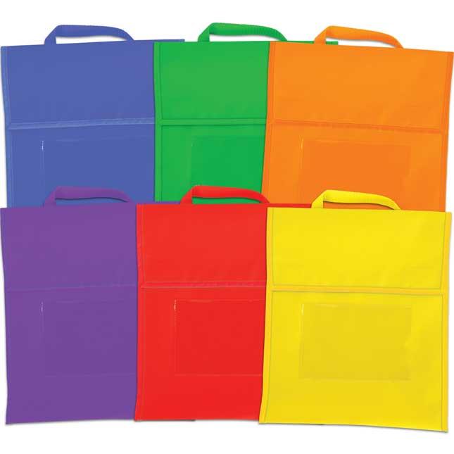 Group-Color Book Pouches - 6 Colors