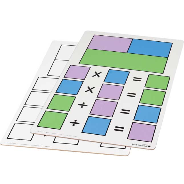 Teacher Demonstration Fact Family Dry Erase Board - Multiplication And Division