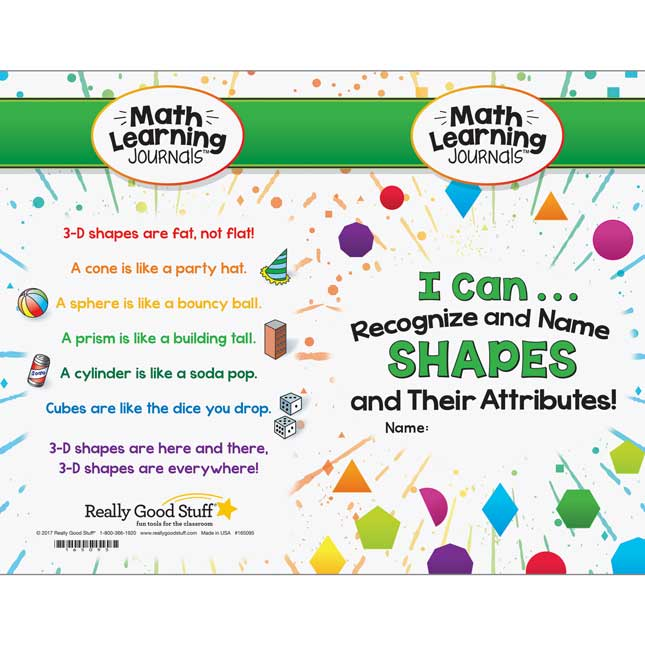 Math Learning Journals™ - I Can Recognize And Name Shapes And Their Attributes!