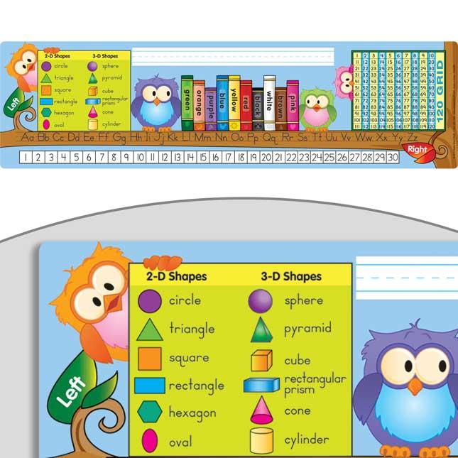 Owls On A Branch Self-Adhesive Deluxe Plastic Desktop Helpers™