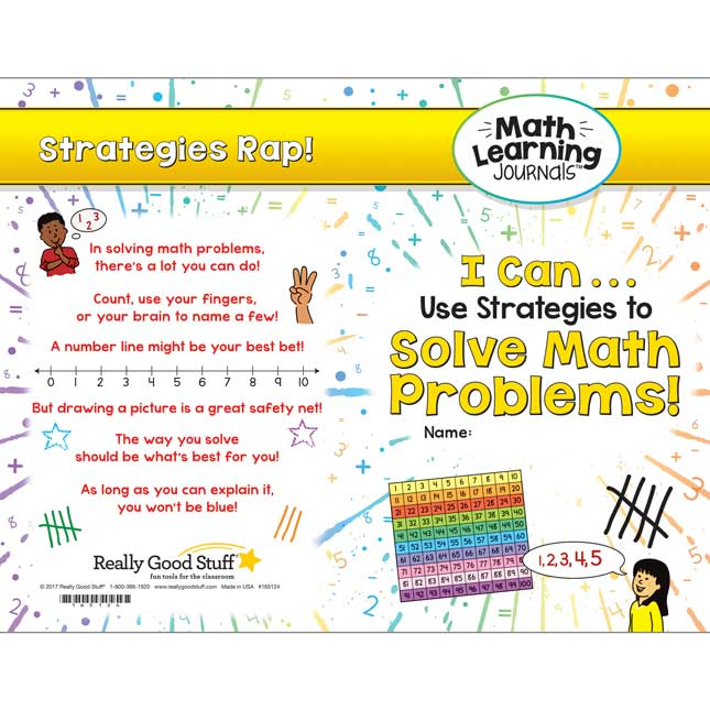 Math Learning Journals™ - I Can Use Strategies To Solve Math Problems!