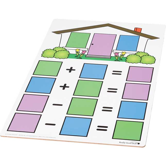 Fact Family Dry Erase Boards - Teacher And Students Kit - Addition And Subtraction
