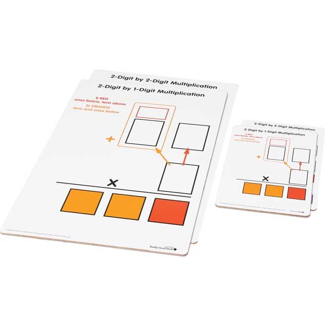 Beginning 2-Digit Multiplication Dry Erase Boards - Teacher And Students Kit