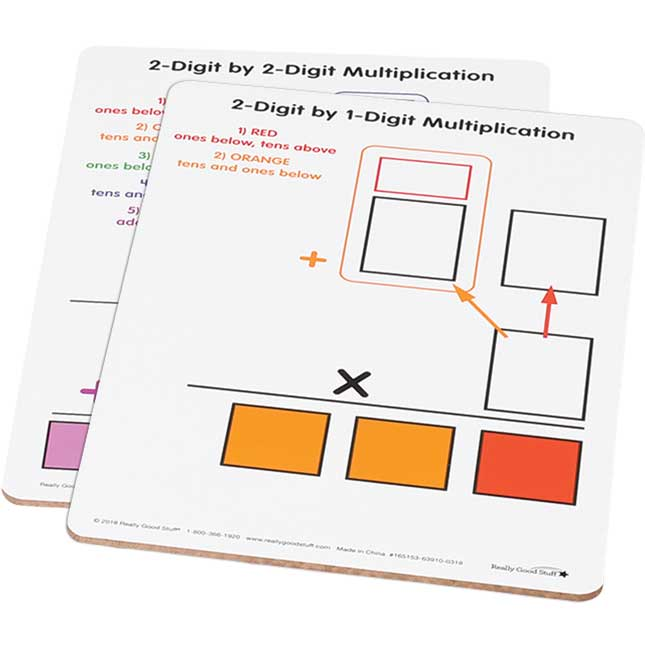 Beginning 2-Digit Multiplication Dry Erase Boards
