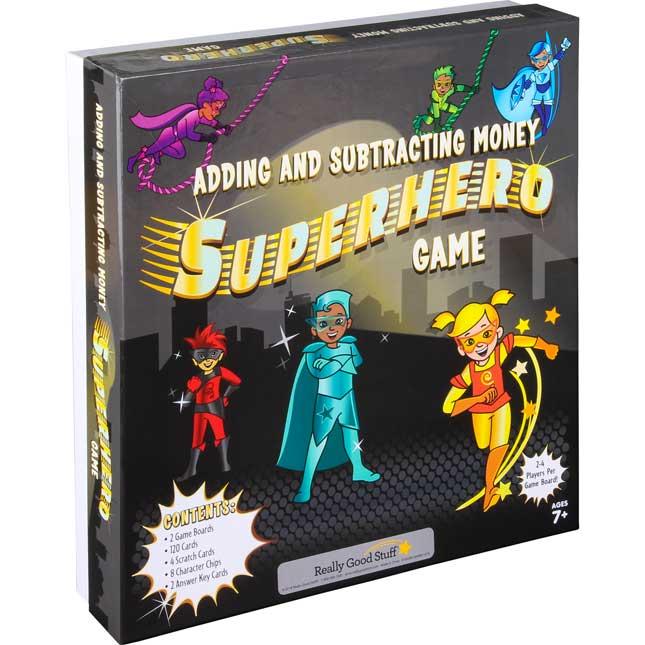 Adding And Subtracting Money Superhero Game
