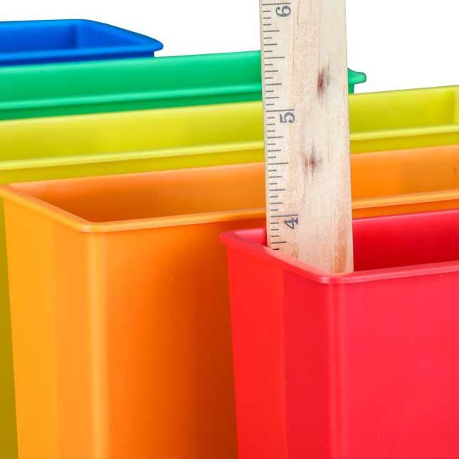 Plastic Magnetic Storage Bin - 6 Colors