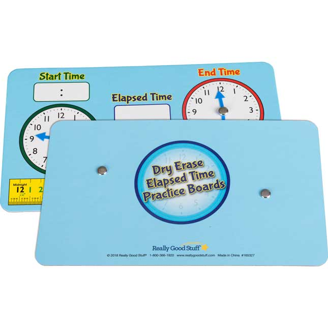 Dry Erase Elapsed Time Practice Boards