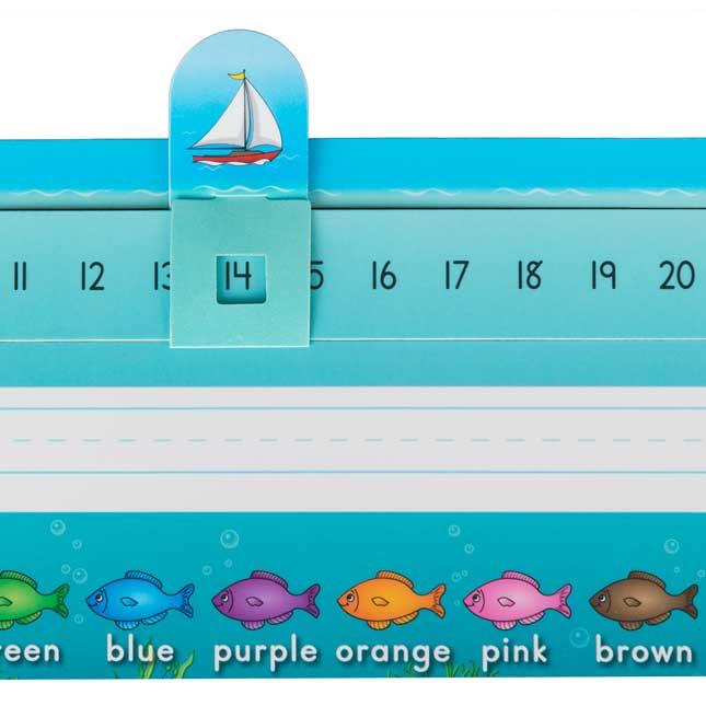 Slide-To-Count Self-Adhesive Deluxe Plastic Desktop Helpers™ - Sea Theme