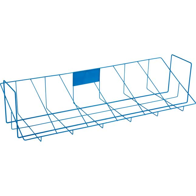 Store More® Book And Binder Holder With Stabilizer Wing Storage Rack For 6 Bins