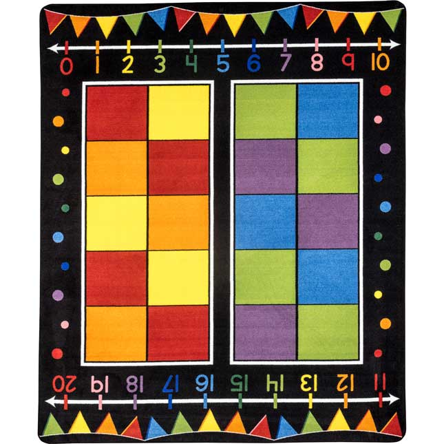 Double Ten Frame Classroom Rug With Number Line