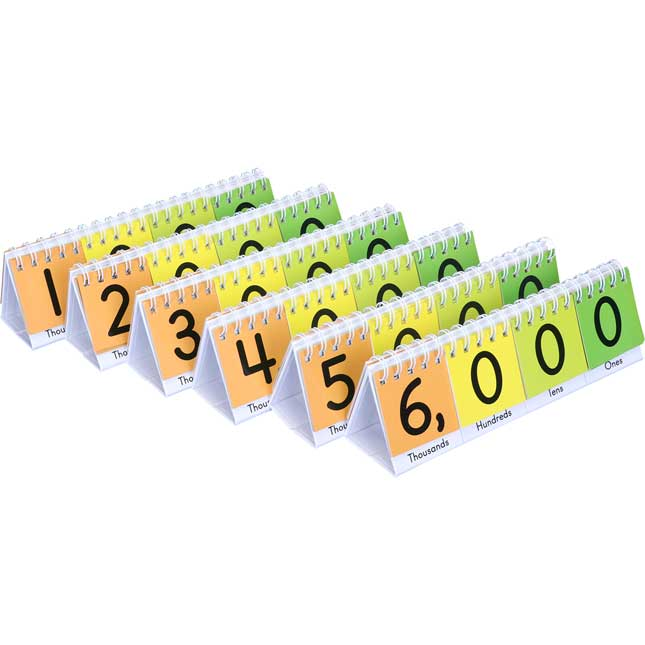 Teacher And Students Primary Place Value Flip Chart Set
