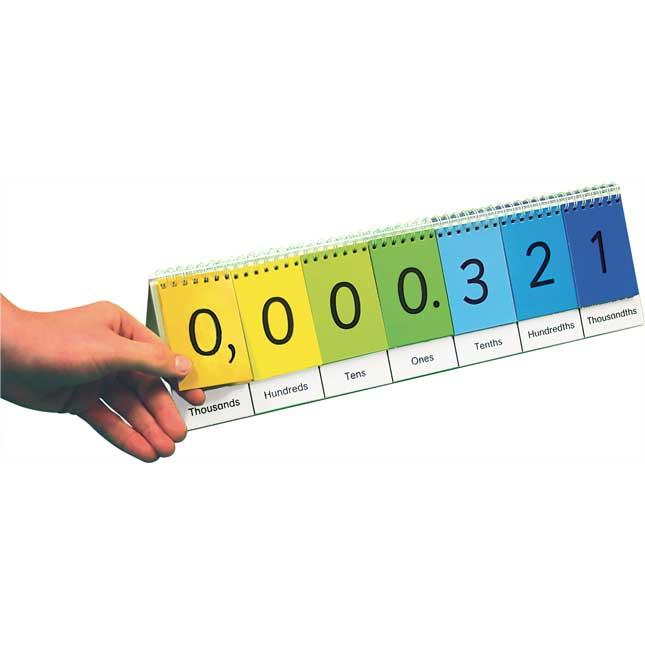 Teacher And Students Place Value Flip Chart Set