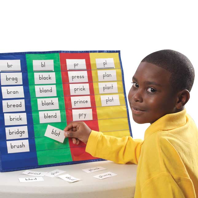 4-Column Desktop Pocket Chart™, Stand and Magnetic Board