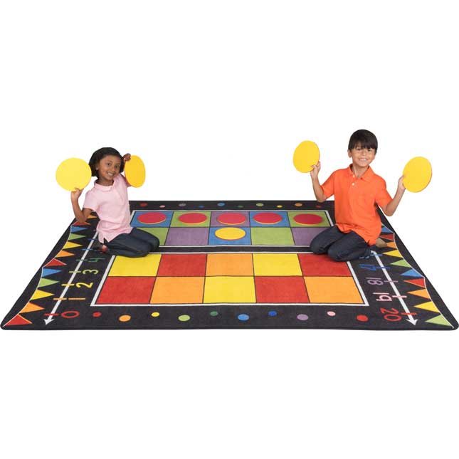 Double Ten Frame Classroom Rug With Number Line And Counters