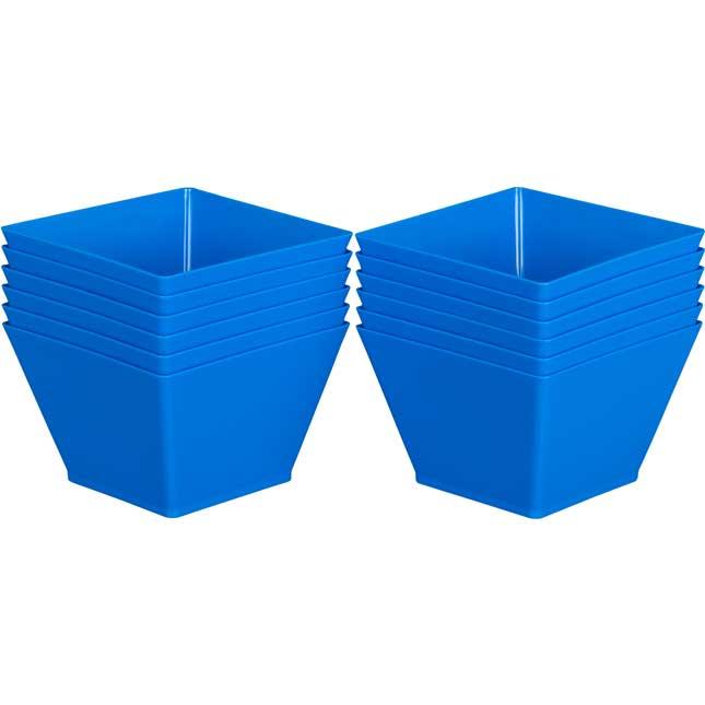 Individual Supplies Bins - Single-Color Set Of 12