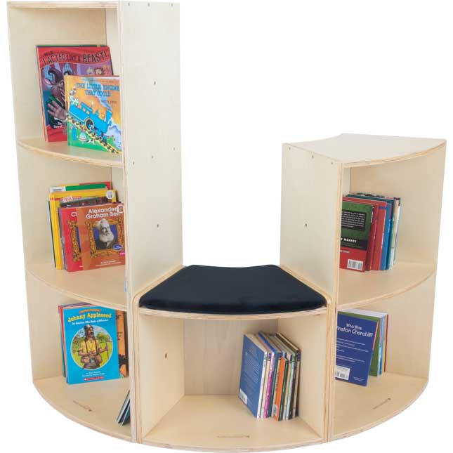 Curved Low Seat Small Bookcase