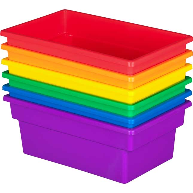 All-Purpose Bin - Set Of 6 Grouping Colors