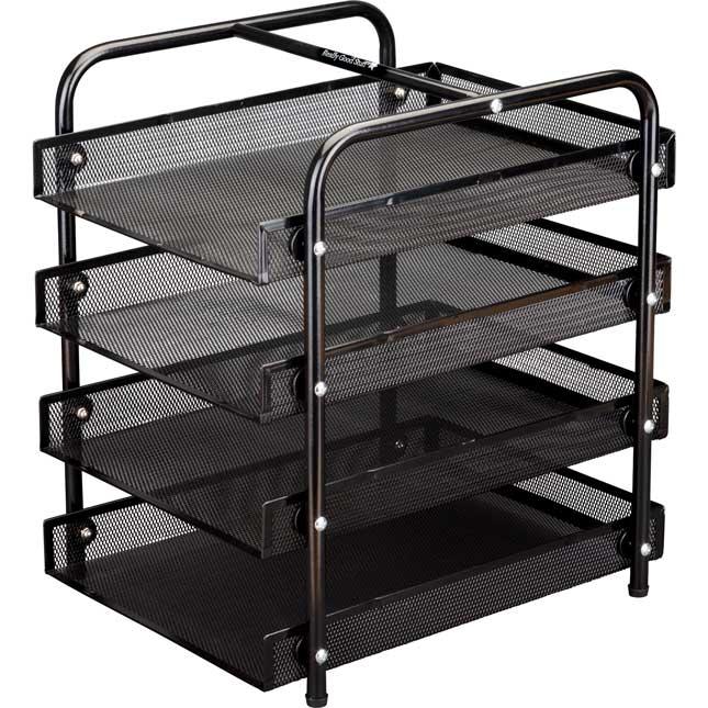 Desktop Supplies Station With Ruler Baskets