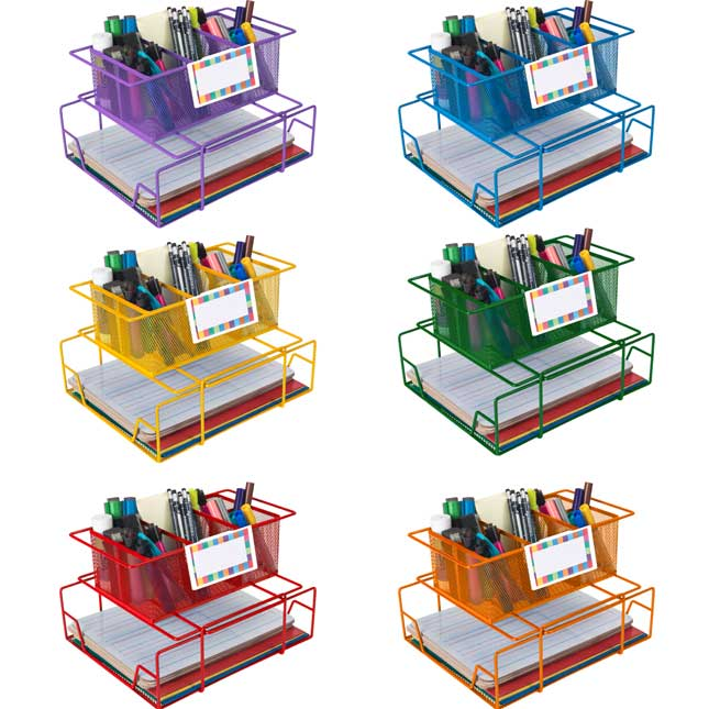 Group Materials Caddies™ With Label Holders - Set Of 6