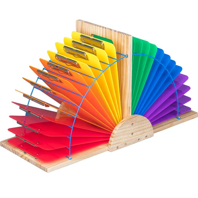 Double Clipboard Stand With 24 Grouping Clipboards