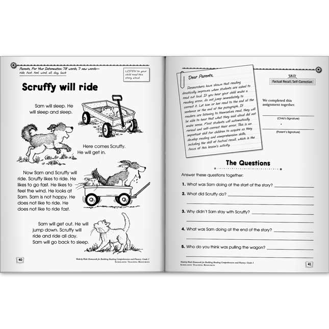 Reading Comprehension and Fluency Book - Grade 1