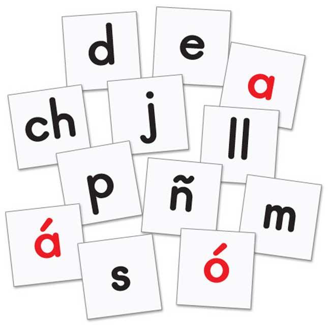 Really Good Stuff® Make-A-Word Desktop Pocket Chart™Cards -Spanish