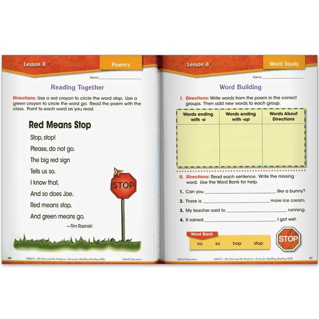 Poems for Building Reading Skills - Grade 1
