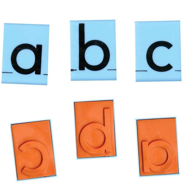 Jumbo Lowercase Alphabet Rubber Stamp Letters