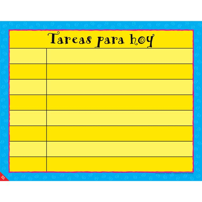Tareas para hoy (Today's Assignments Poster)