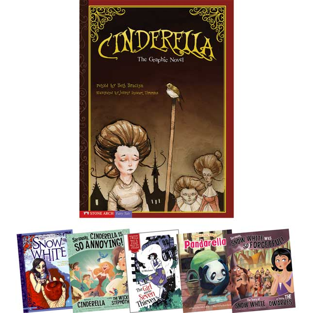 Fairy Tales In Multiple Formats: Snow White And Cinderella 6-Book Set