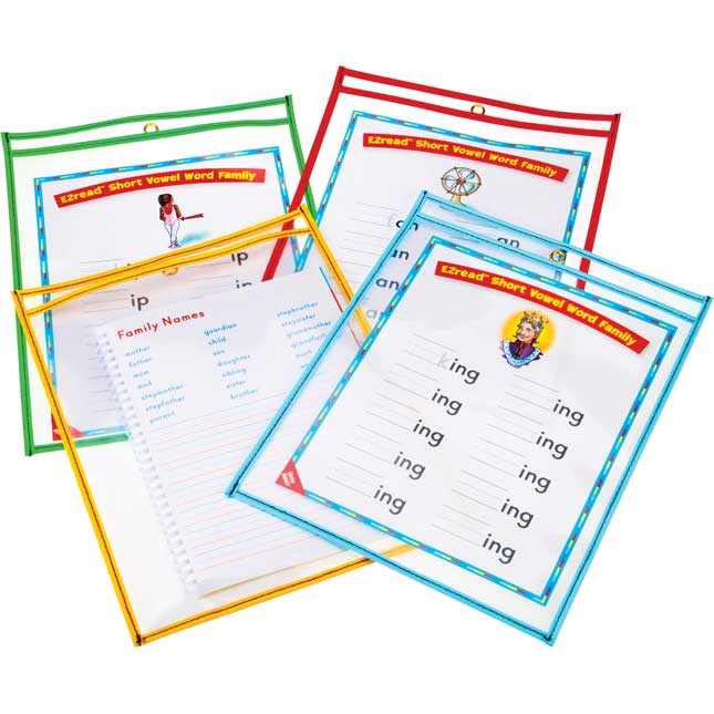 Write Again Re-Markable™ Dry Erase Sleeves Classroom Pack