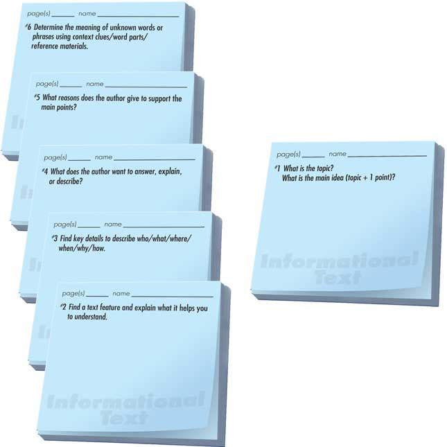 Common Core Study Stickies™: Informational Text Comprehension Questions