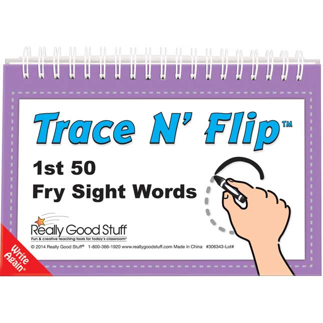 Trace N' Flip™: 1st 50 Fry Sight Words