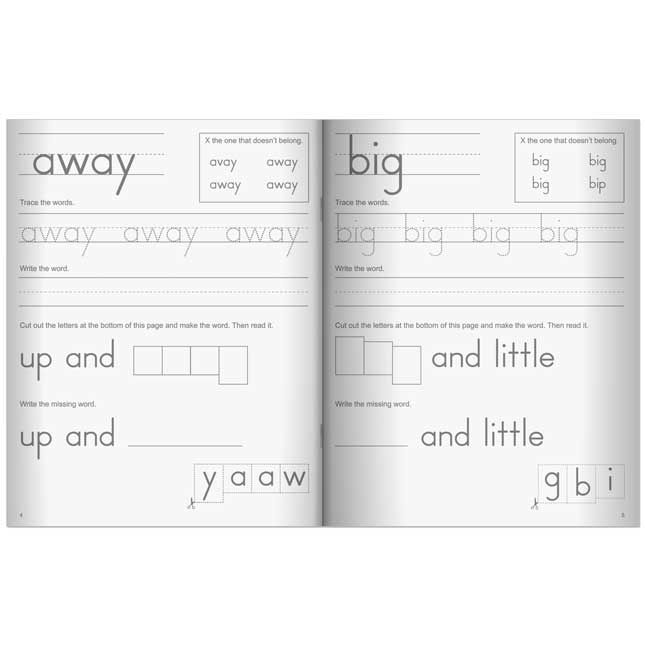 My Sight Word Journals: Dolch Pre-Primer And Primer Words