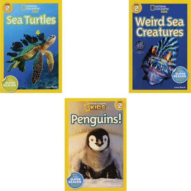 National Geographic Kids Readers Level 2 Set 1 - 10-Book Set