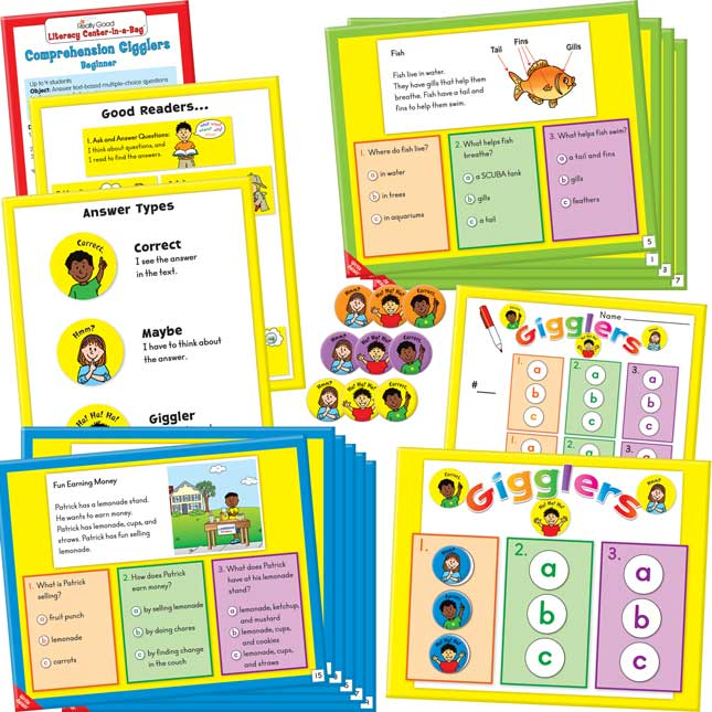 Really Good Literacy Center™: Gigglers - Beginner