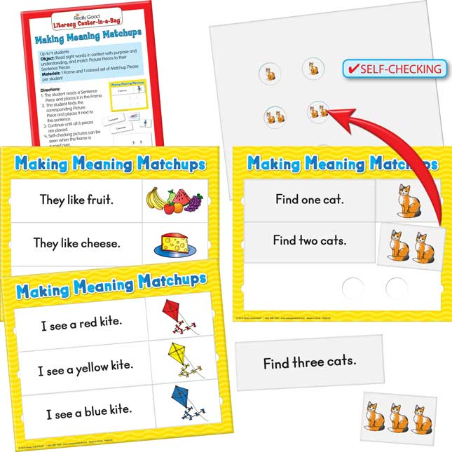 Really Good Literacy Center™: Making Meaning Matchups